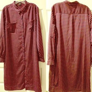 NAVY & RED CHECKERED ANN TAYLOR DRESS EXTRA LARGE